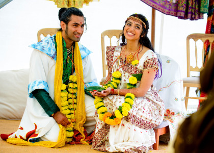Priya & Jesal Hindu wedding day.